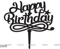 Happy BIrthday Music Cake Topper