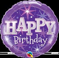 Happy Birthday Purple Sparkle Foil balloon