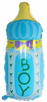 Its a Boy Feeding Bottle Foil Balloon - Yellow Baby Shower