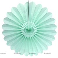 Mint Green15cm - set of 5 Paper Fan Decoration