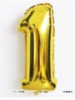 No 1 Gold Foil Balloon
