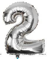 No 2  Silver Foil Balloon