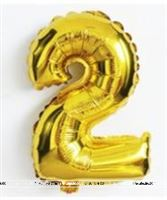 No 2 Gold Foil Balloon