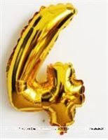 No 4 Gold Foil Balloon