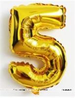 No 5 Gold Foil Balloon