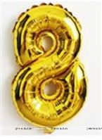 No 8 Gold Foil Balloon