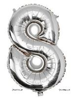 No 8 Silver Foil Balloon