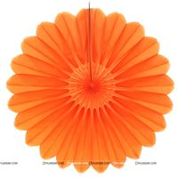 Orange 15cm - set of 5 Paper Fan Decoration