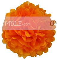 Orange Paper Pom Pom - Yellow Baby Shower