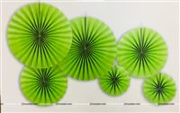 Parrot Green Paper Fan Decoration
