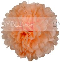 Peach Paper Pom pom - Yellow Baby Shower