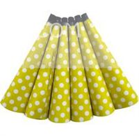 Polka Dot Yellow Party Horns (PACK OF 6 )