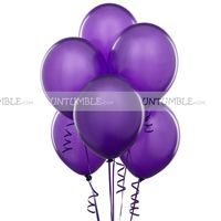 Purple Latex Balloons (Pack of 10)