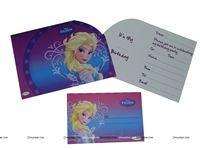 Frozen theme  - Frozen 2 Die Cut Invitation and envelope