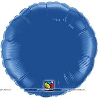 Round Royal Blue Foil Balloon