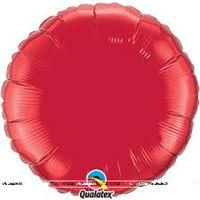 Round Ruby Red Foil Balloon