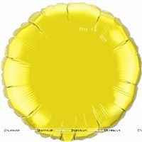 Round Yellow Foil Balloon