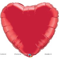 Love theme Ruby Red Heart Foil Balloon