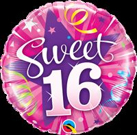 Rockstar Party theme Sweet 16 Foil Balloon (18 inch)