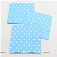 Tissue Paper - Blue Polka  (Pack of 20)