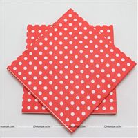 Christmas Decorations theme Tissue Paper - Red Polka  (Pack of 20)