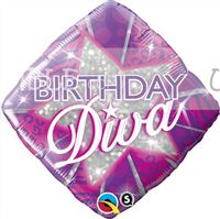40th Birthday theme Birthday Diva Foil Balloon