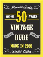 50th Birthday theme  - Vintage Dude 50th birthday poster