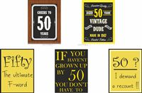 50th Birthday theme Kit of posters (Set of 5 )