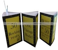 50th Birthday theme Box center piece (Pack of 1 )