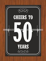 50th Birthday theme  - Cheers to 50th Birthday poster