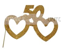 50th Birthday theme No 50 Glitter Glasses Photo Prop