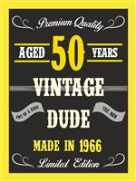 50th Birthday theme Vintage Dude 50th birthday poster