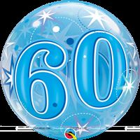 60th Birthday theme 60th Transparent Bubbles Foil Balloon
