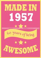 60th Birthday theme Made in 1957 poster