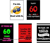 60th Birthday theme  - 60th Birthday Posters ( Pack of 5 )