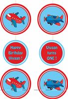 Disc Danglers - Aeroplane Theme Birthday Party Decoration Supplies