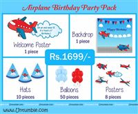 Aeroplane theme  - Aeroplane Theme Mini Party Pack