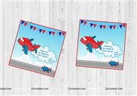 Aeroplane theme  - Aeroplane theme Thank you cards