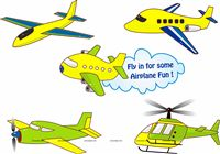 Aeroplane theme Posters pack of 5