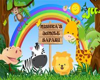 Baby Jungle theme  - Baby Jungle Animals Backdrop