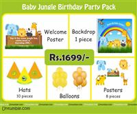 Baby Jungle theme  - Baby Jungle Theme Mini Party Pack