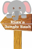 Baby Jungle theme Elephant Direction Cutout