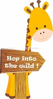 Baby Jungle theme Giraffe Direction Cutout