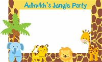 Photo Booth - Baby Animal Jungle birthday supplies