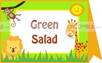 Baby Jungle theme Jungle Food Labels
