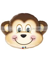 Jungle Safari Birthday theme Monkey Foil Balloon