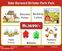 Baby Barnyard theme  - Baby Barnyard Theme Mini Party Pack