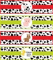 Baby Barnyard theme Bottle Wrappers