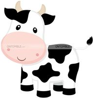 Baby Barnyard theme Smiling Cow Cutout
