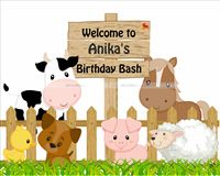 Baby Barnyard theme Welcome Cutout